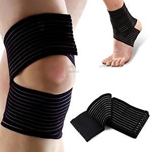 Breathable Ankle Support Compression Brace Sleeve Bandage Straps for Knee Elbow Wrist Shin Ankle Hand Support Injury Socks Sports Injuiry Sprained Strained and Arthritic Ankles