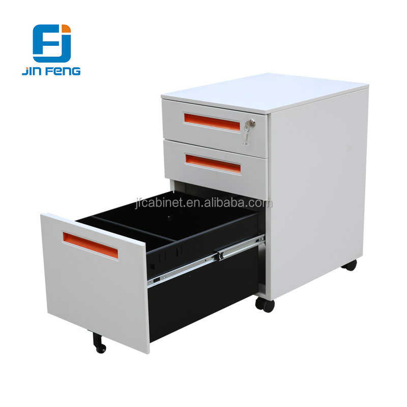 3 Drawer File Cabinet Under Desk Movable Drawers With Wheels Jf P015 Three Slide Mobile New Design Steel Cabinets