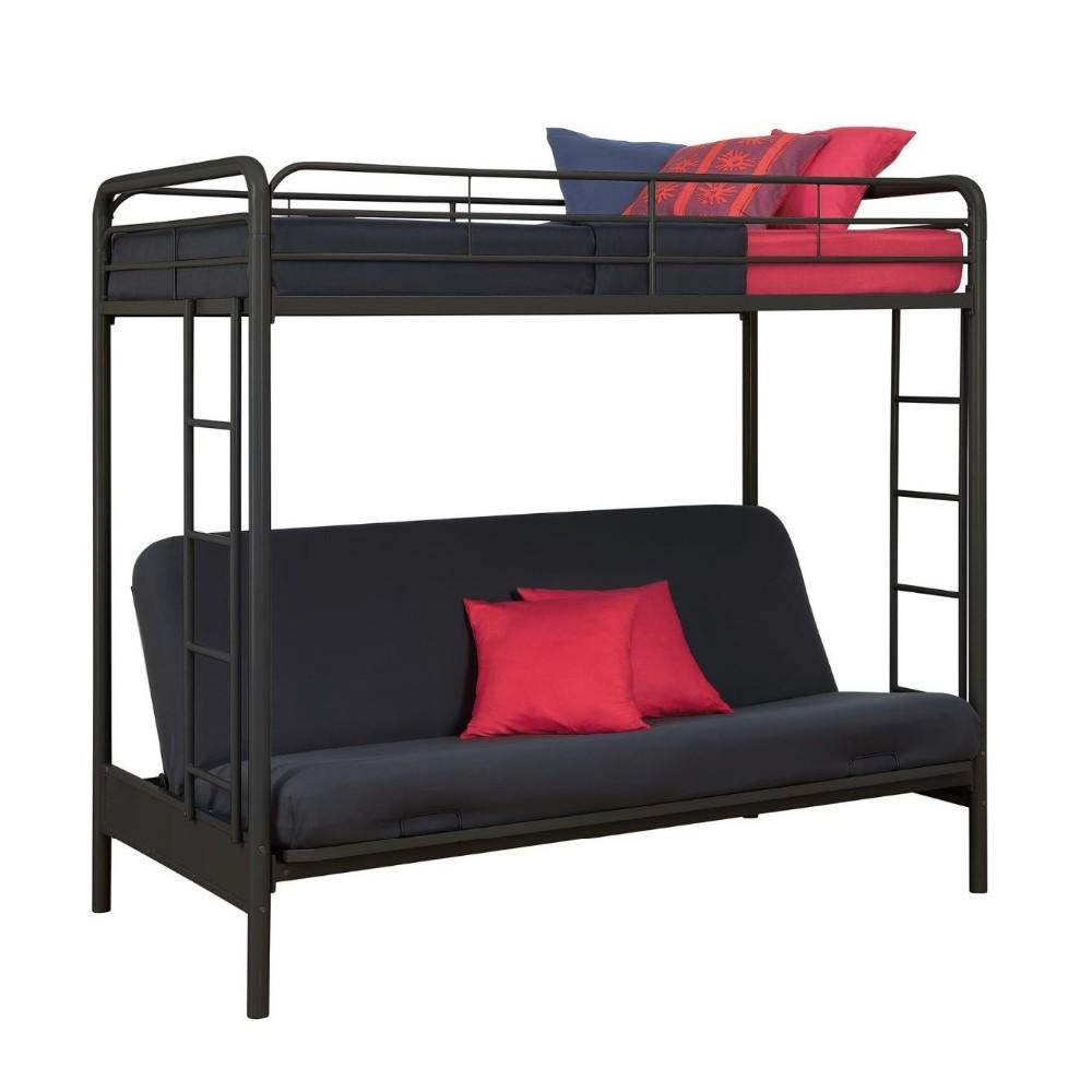 Twin Over Full Futon Metal Sofa Bunk Bed,Bunk Sofa Bed,Sofa