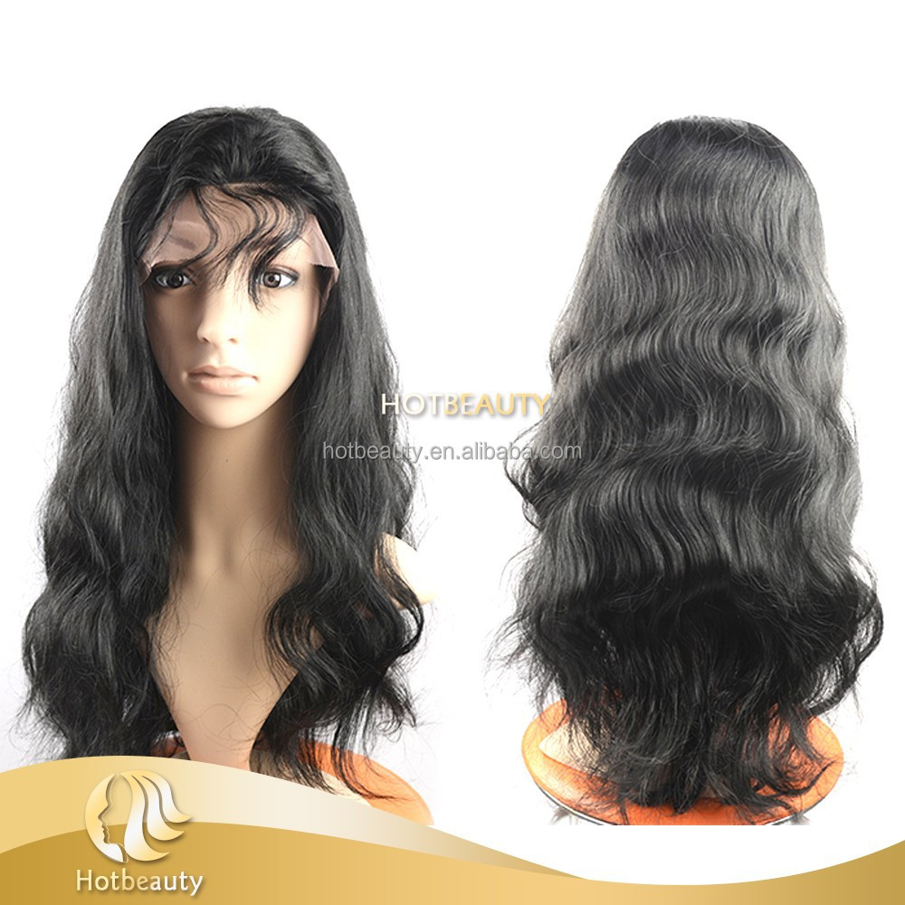 Promotion!! 100% virgin human bulk hair full lace wig with baby hair around