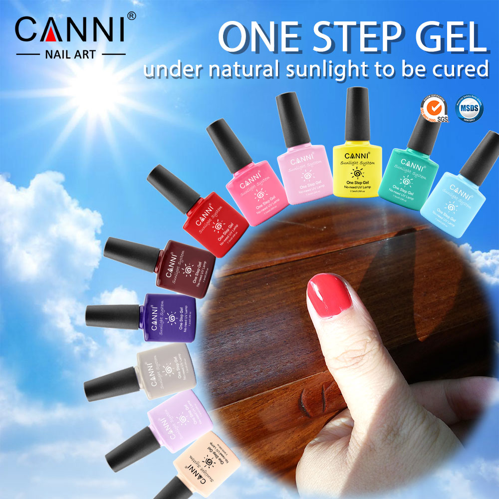 51263W CANNI nail art gel factory 2016 new product one step color gel nail polish