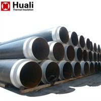 Pre-insulated HDPE polyethylene underground pipe sleeve pre insulated hot water steel pipe price