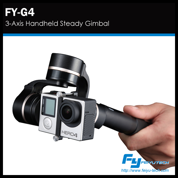 High quality feiyu G4 handheld gimbal 3 axis go pro