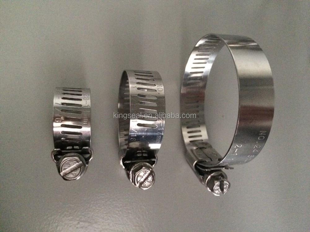 Certified large diameter adjustable hose clamp clip