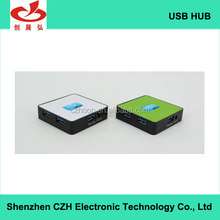 Top quality square-shape usb por hub, 4 port 3.0 usb hub driver download high speed for computer accessories