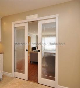 Etonnant Wood Interior Sliding Frosted Glass Pocket Doors