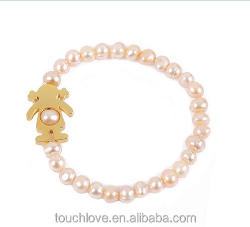 fd2b61d8fcc1 B2039-G perla pulseras España mujeres del encanto de la joyería niñas niño  pulseras para