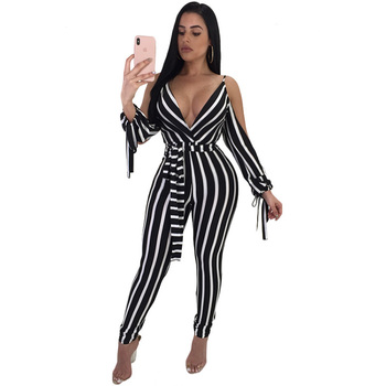 One piece bandage women bodycon jumpsuits latest design