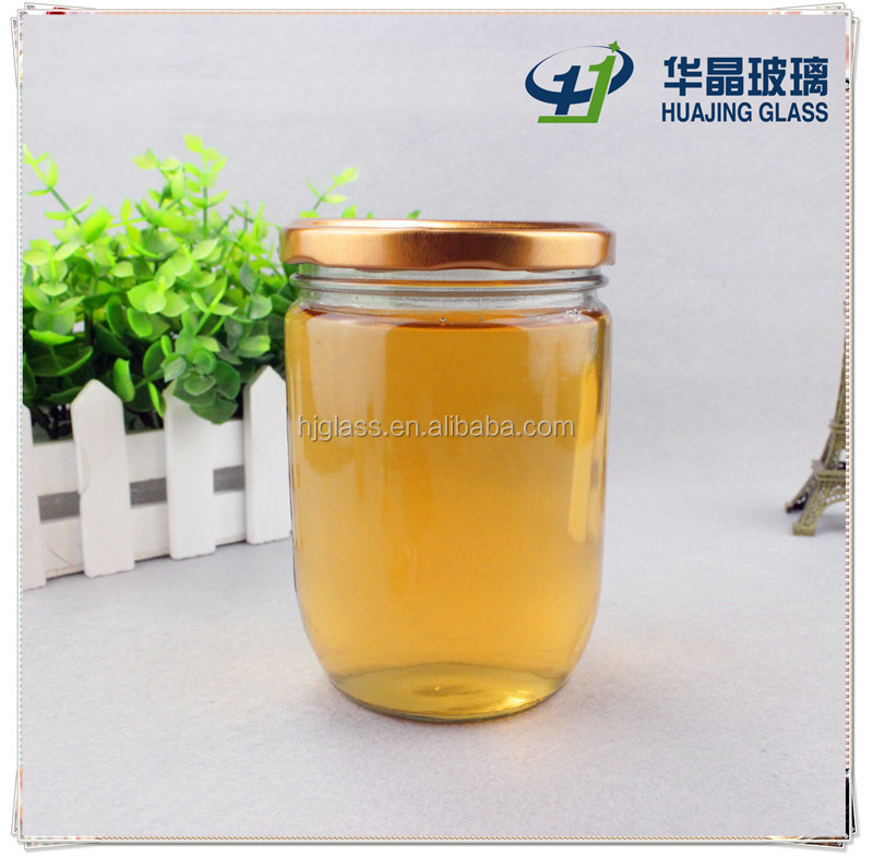 lug cap sealing type jar 450ml 16oz round vacuum glass bottle for jam
