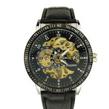 Top quality men mechanical automatic leather watch