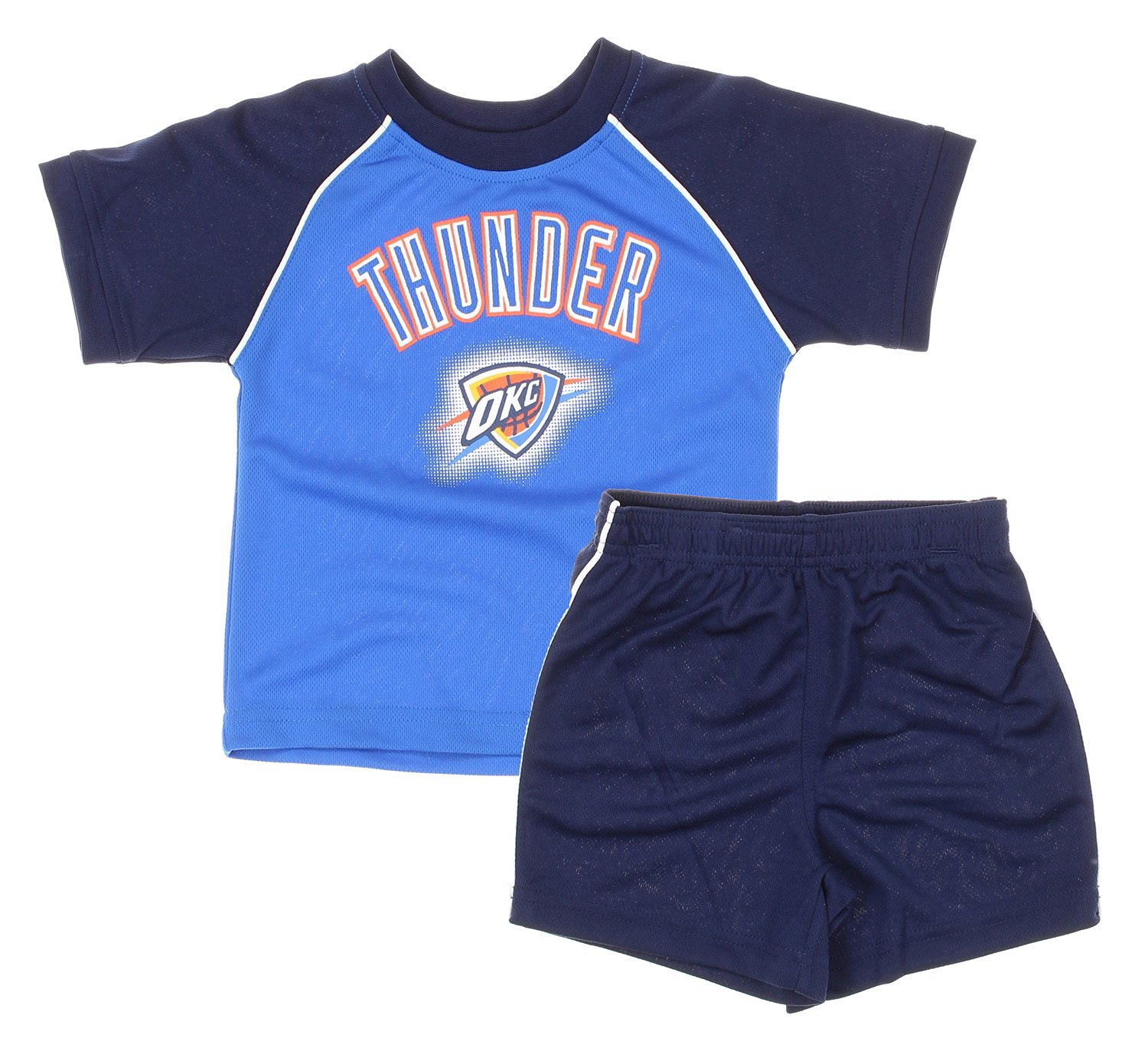 Get Quotations · Oklahoma City Thunder NBA Baby and Toddler Shirt and  Shorts Set - Blue 0bf50fff9