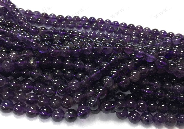 8mm Amethyst Natural Stone Round Beads Gemstone Wholesale Amethyst Beads