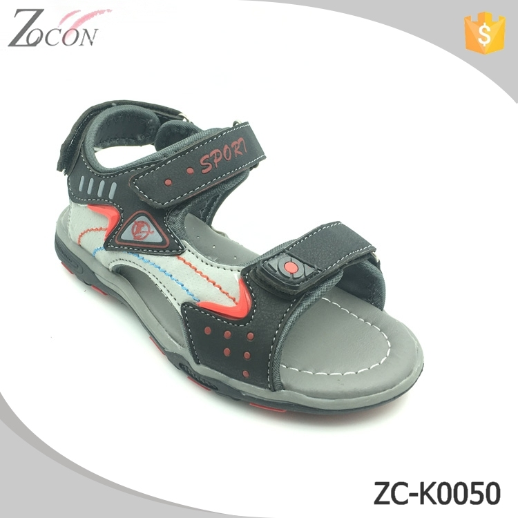 Pu upper rubber sole kids girls boys sandals shoes