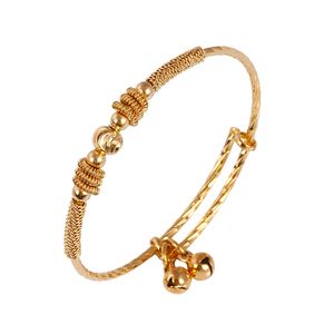 50582 xuping gold bangle models design for kid with bells