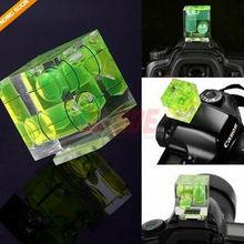 Photo Studio Accessories New Triple 3 Axis Bubble Spirit Level Hot Shoe Adapter For Dslr Slr Cameras S24 J440