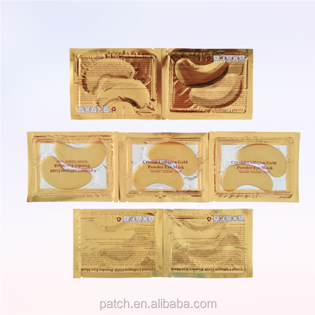 New HIGH product 24K Gold Collagen Crystal Eye Bag Mask for Aging Skin Moisturizing and Wrinkle Removal