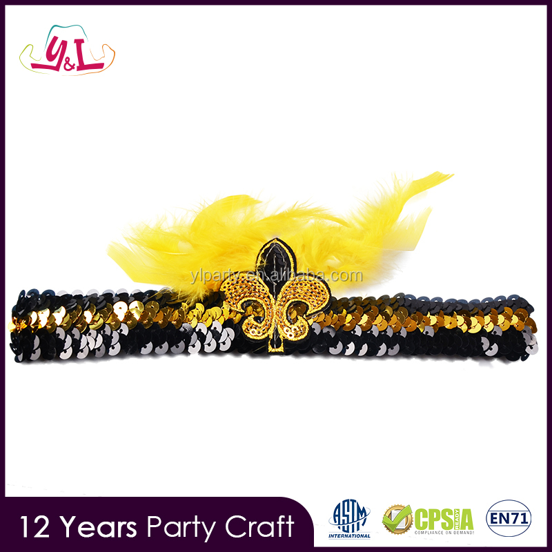 2016 new fashional mardi gras products with feather