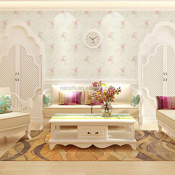Non Woven Wallpaper Adhesive Wallpaper Classic Flower Interior