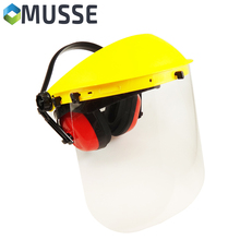 MU-61501 Clear Plastic Face Shield for Head & Hearing Protect use