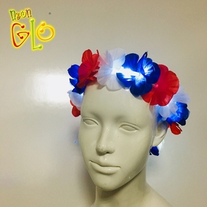 Light Up Hawaiian Headband LED Flower Lei