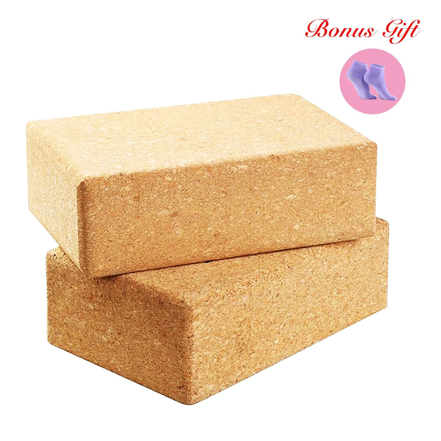 Cork Yoga Block Brick Pilates Exercise Block Brick Soft Durable Slip-Resistant Non-Absorbent Odor-Free Moisture-Proof Yoga Nice Aid