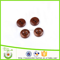 Dark coffee color 20L two holes wood buttons for baby sweaters