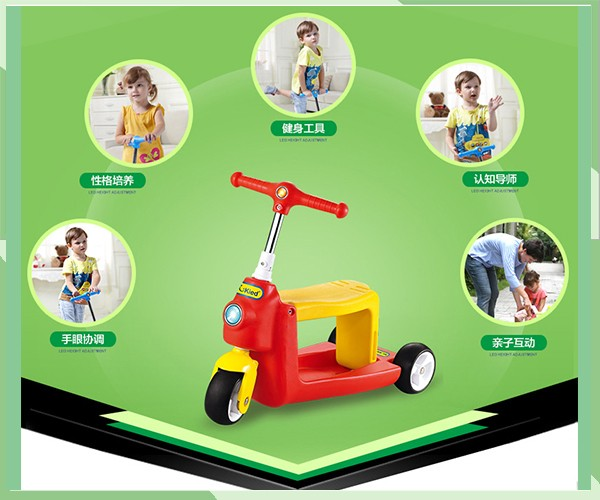 Children2 in 1 scooter drie wiel kick plastic scooter kid plastic scooter