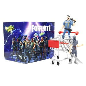 (Wholesale) Fortnite Anime Figure Toys With Shopping Cart, High Quality Fortnight Epic Game Toys Doll With Vehicle For Gifts