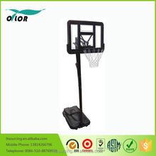 Wholesale height adjustable movable portable from 2.30m to 3.05m basketball stand with tempered glass backboard