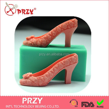 f6e60fcccb5b PRZY diy baking tool 3d sexy high-heeled shoes cake silicone mold chocolate  mould High
