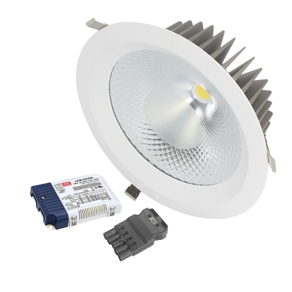 Dali driver 10 inch led cob 50w <strong>downlight</strong> with 250mm cut out,UGR<19 LED down light