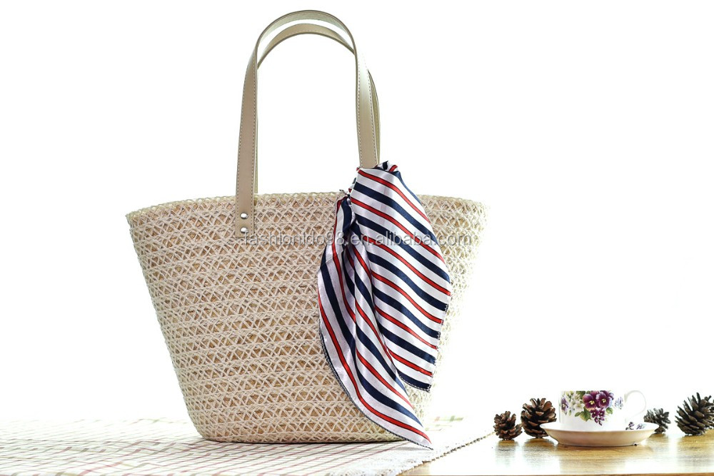 Basket Weaving Gifts : Round shape maize weaving gift basket straw easter