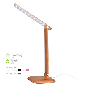 Dimmable ABS + PP Cheap Desk Lamp Cover, Pattern Wood Grain Desk Lamp