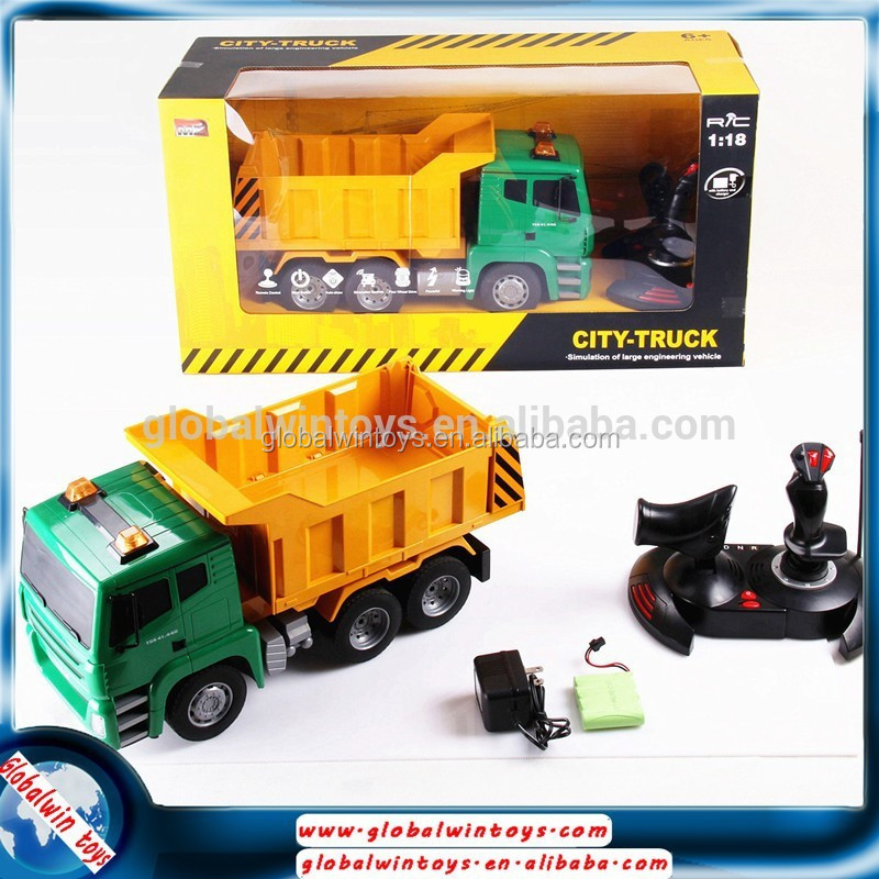 product gs  big truck model auto displaying rc dump with sound light electric for sale
