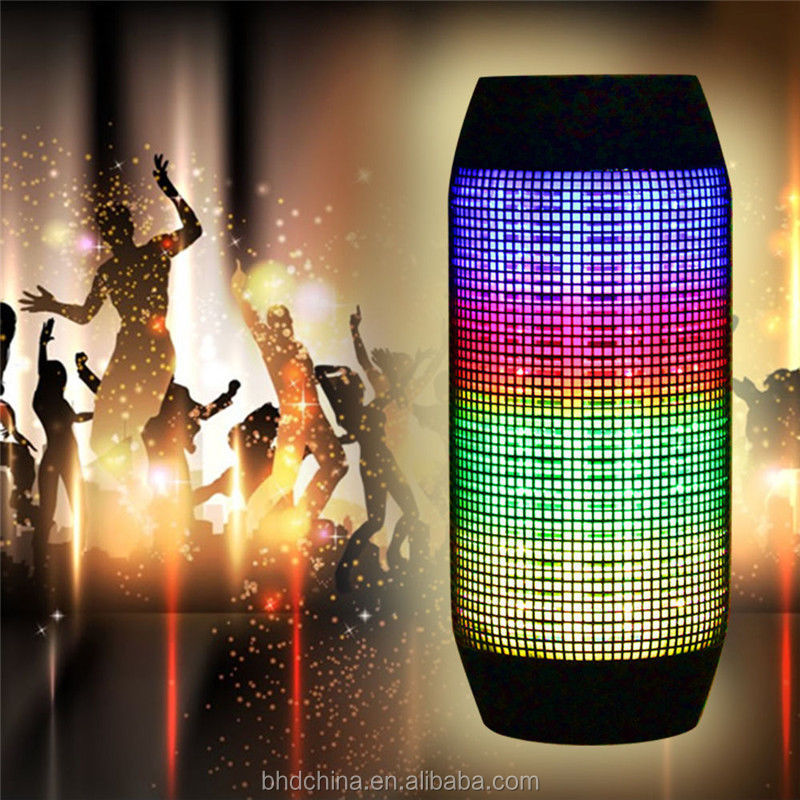 2016 10W Portable waterproof LED Light Stereo Wireless Bluetooth Speaker with led light for party