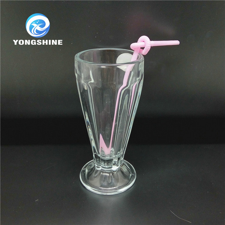 tall transparent glass ice cream cup
