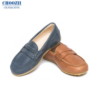Choozii Classic Style Children Casual Leather Flat Rubber Sole Shoes Kids Loafers for Boys