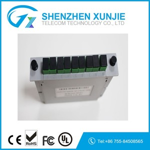 FTTH LGX box 1*8 Passive SC /APC cassette Module Card Inserting Type Fiber Optic PLC Splitter