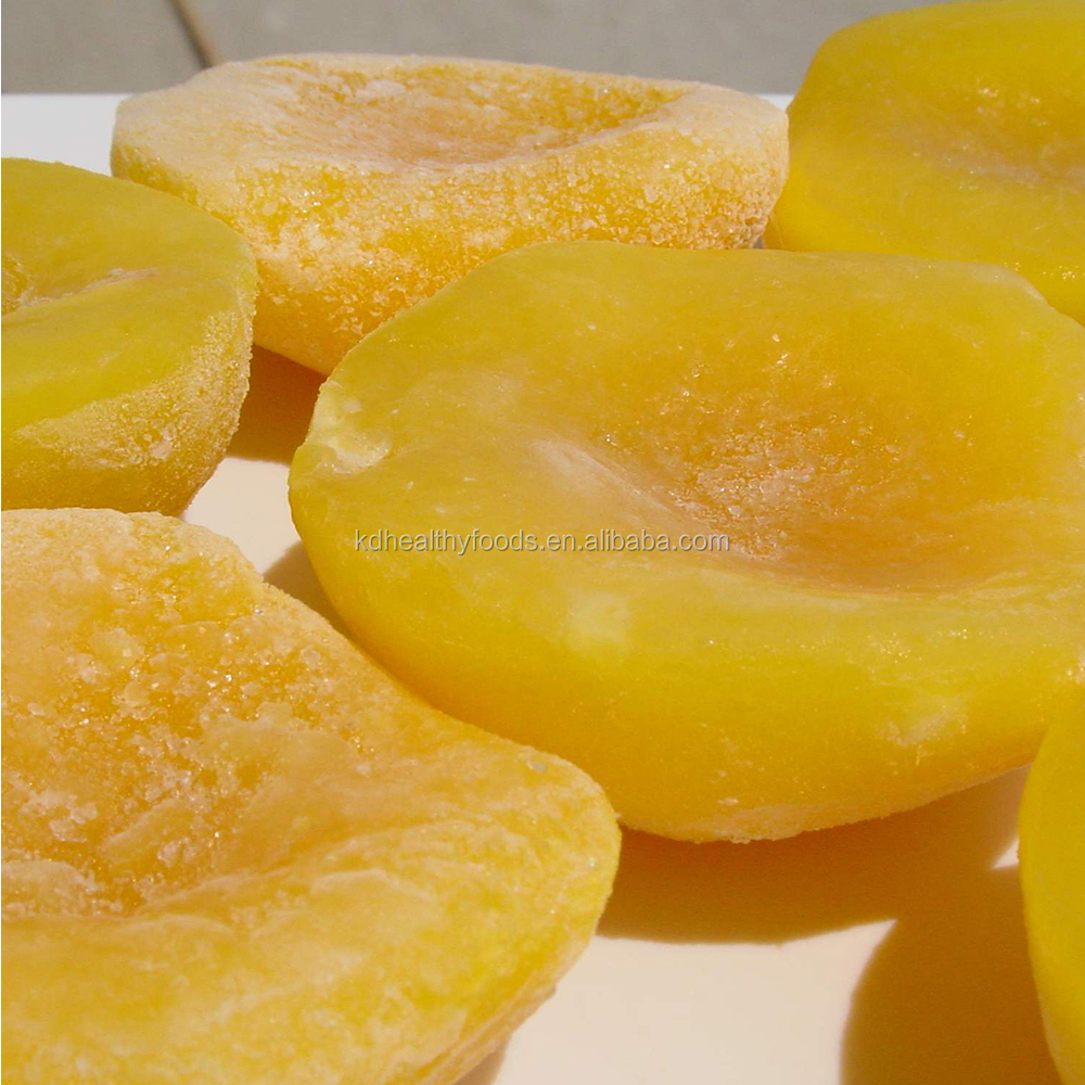 IQF sliced/halves/diced Yellow Peaches