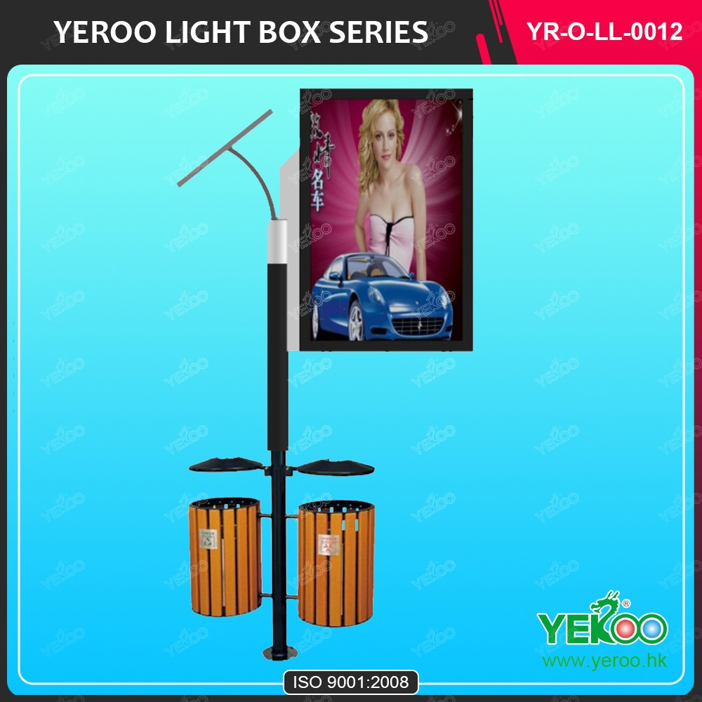 double side advertising standing Solar Light Pole Light Box