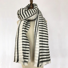 Wholesale fashion warm red stripe women knit winter scarf