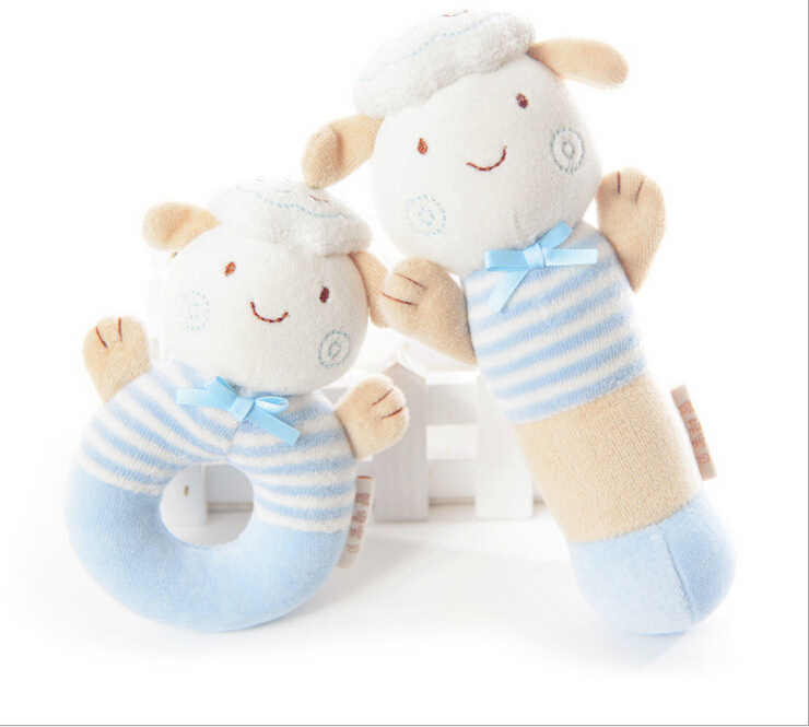 Multifunctional baby taggies hand bell baby animal hand stick handbell bb stick rattle toy