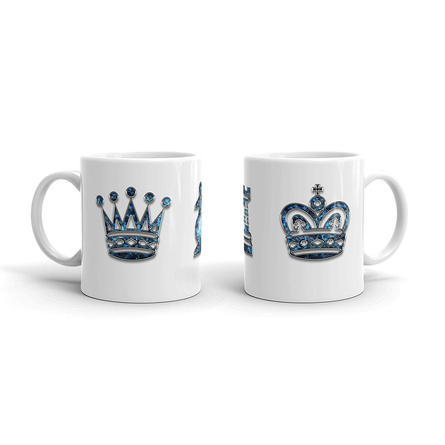 King & Queen of Chess | PERSONALIZED His & Hers Set of 2 Coffee Mug (11oz) | Great gift for Her Him Mom Dad Mothers Fathers Day Wife Husband Valentines Couple Anniversary Birthday Wedding