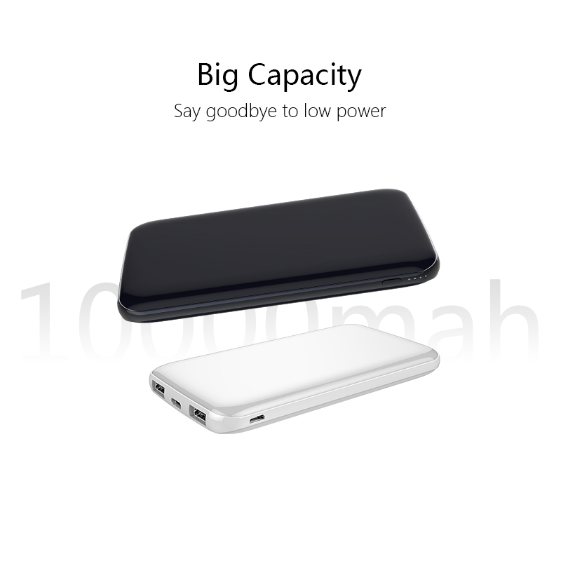 Full Capacity 10000mah 2A Quick Charging Power Bank Portable Emergency Charger with MultiProtect Safety System