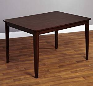 Simple Living Clarissa Mid-Century Modern Espresso Brown Wood Dining Room or Kitchen Table by Simple Living