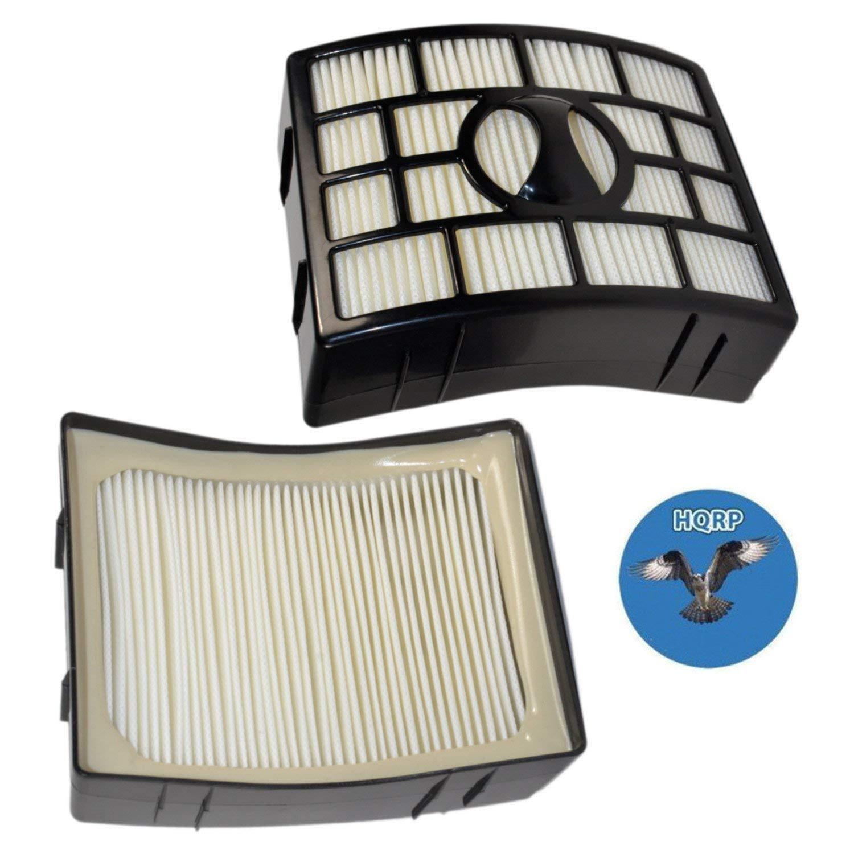 HQRP 2-pack HEPA Filter for Shark Rotator UV795 NV755 Powered Lift-Away XL Capacity Upright Vacuum, XHF650 Replacement + HQRP Coaster