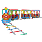 outdoor machine funfair game kids amusement park track electric train ride for sale