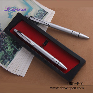 Wholesale Cheap Customised Novelty Promotional Gift Set Ballpoint 2 In 1 Pen With Pencil