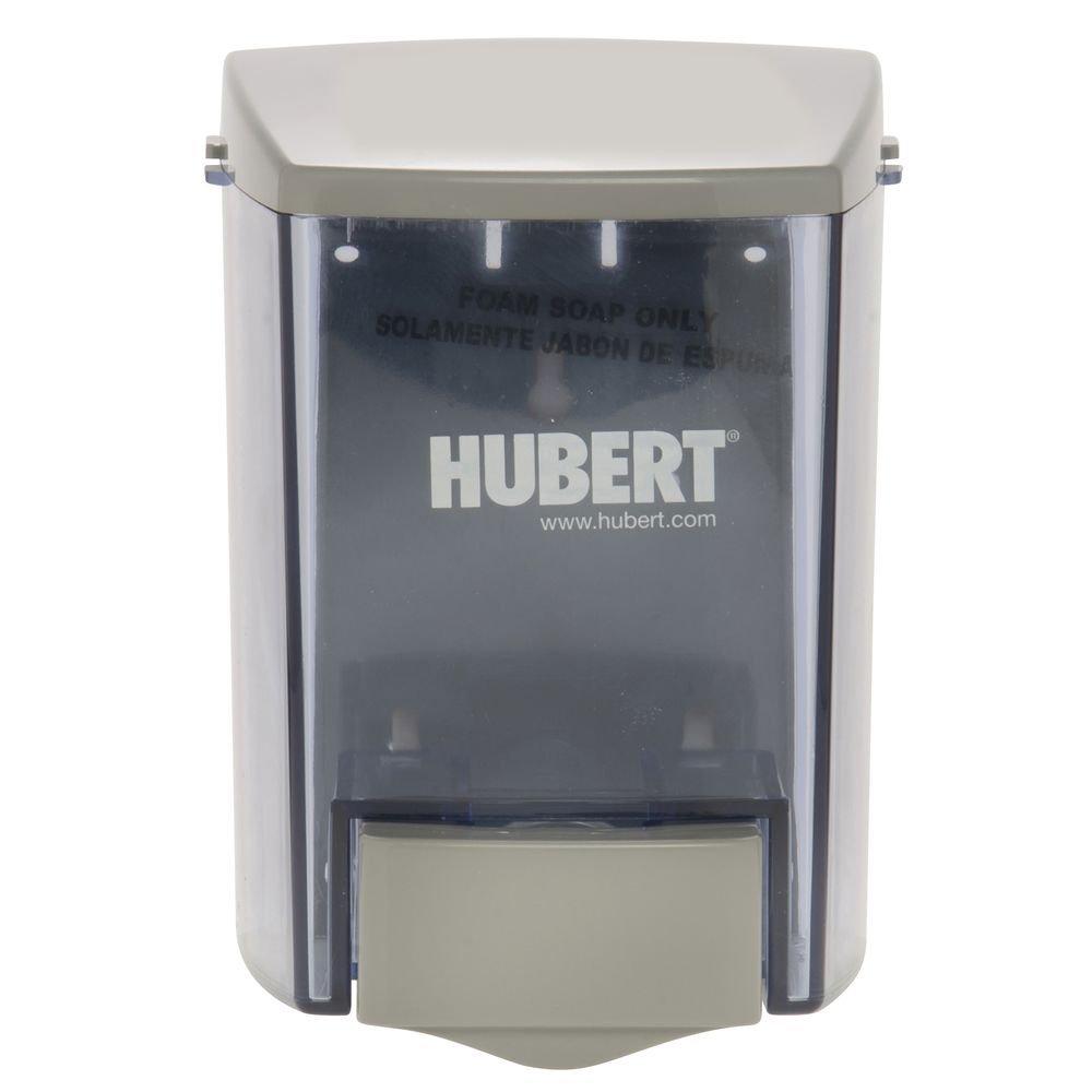 HUBERT Foam Soap Dispenser Grey Plastic - 4 1/4 W x 4 1/2 D x 6 3/8 H
