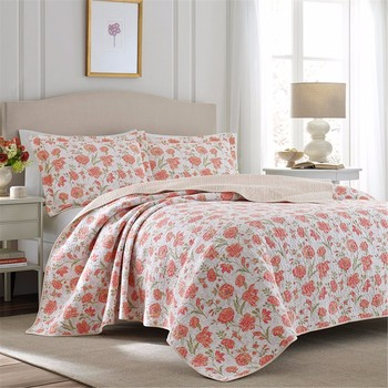 home decoration custom printed bed sheets ruffled quilt fashion